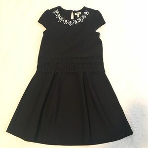 Other - Girl's Black Dress with Rhinestone Accented Collar